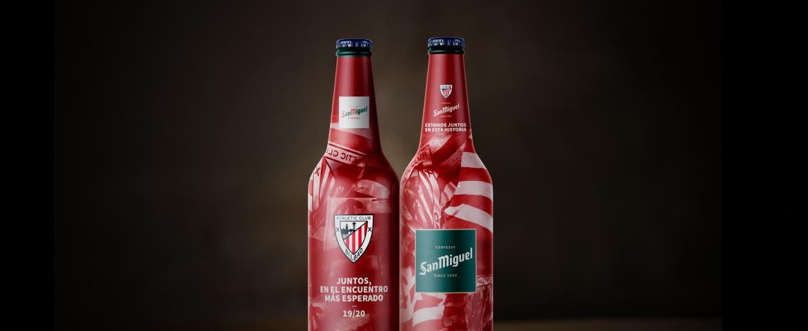 Para celebrar el reencuentro más esperado, San Miguel ha diseñado esta botella tan especial. ¡Zorionak Athleticzales!